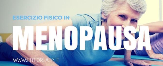 Esercizi per la menopausa Fit for Lady