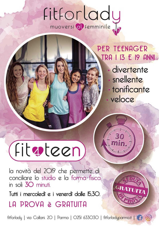 FIT 4 TEEN – IL NUOVO ALLENAMENTO PER TEENAGER