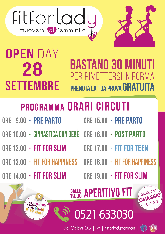 OPEN DAY 28 SETTEMBRE